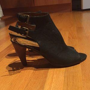 Nine West Shoes - Nine West black open toe heel. Worn twice. Size 8.